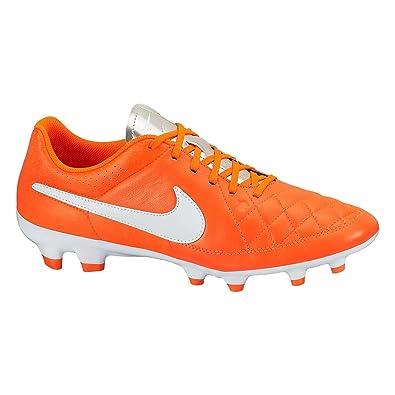 buy cheap 1c29f b6de2 Amazon.com | Nike Tiempo Genio Leather FG (Orange/White ...