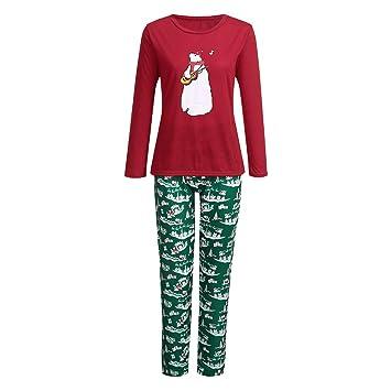 626c3a515b YunZyun 2 Piece Women Christmas Bear Pattern Pajama Sets Jammies Matching  Family Winter Long Sleeve Cartoon