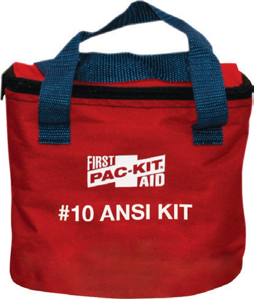 Pac-Kit by First Aid Only 7070 74 Piece 10 Person ANSI Compliant First Aid Kit in Fabric Pouch
