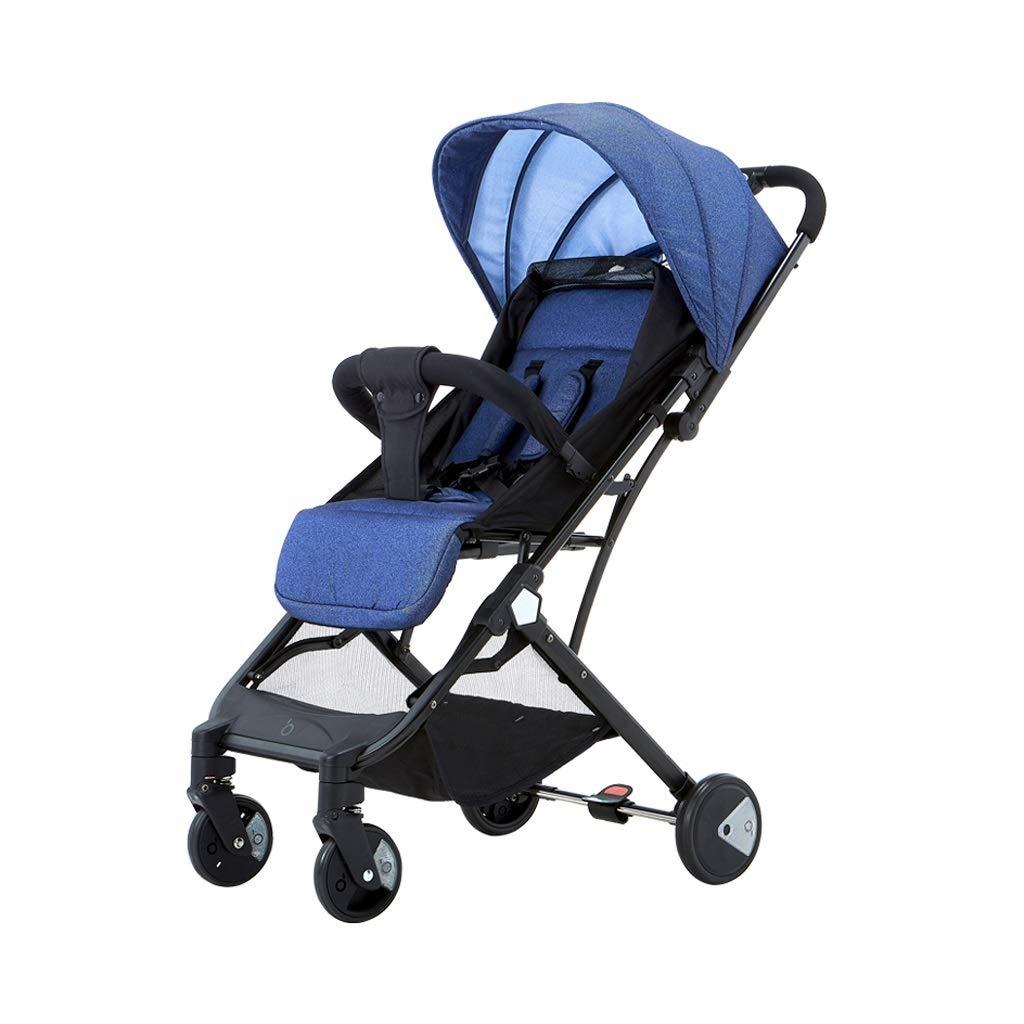 YONGJUN 軽量ベビーカー、ポータブルウルトラライトは片手折りたたみ赤ちゃん傘四輪子供ベビーカーを傾けて座っていることができます。   B07QDNLMY8