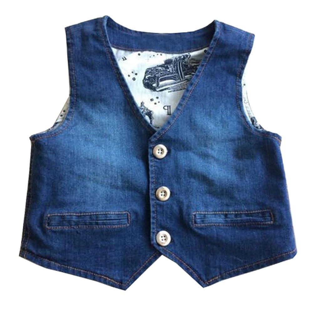 Fashion Baby Baby Little Boys Denim Vest 100% Cotton