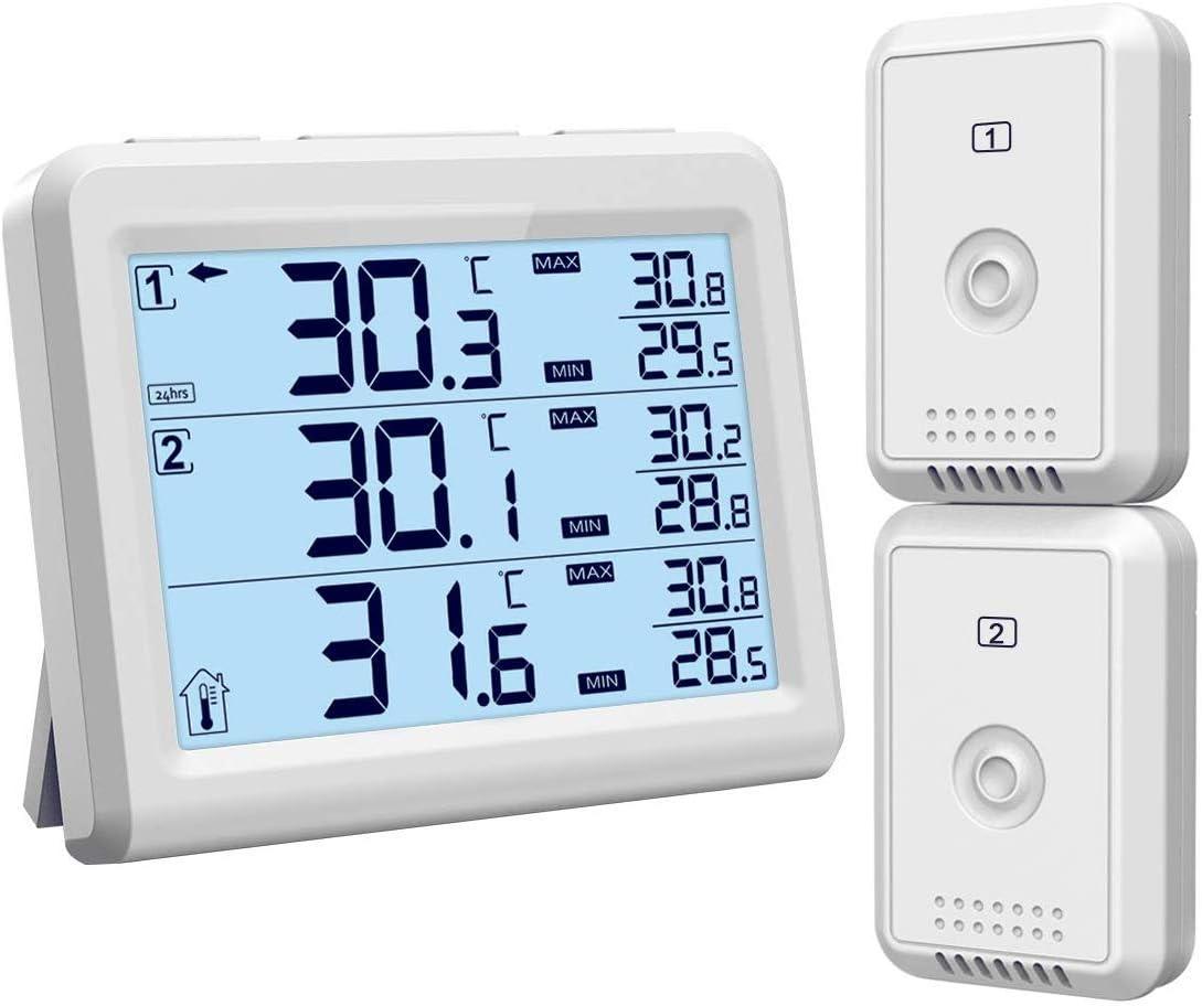 ORIA Termómetro del Refrigerador Digital, Refrigerador Congelador ...