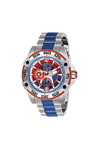 Invicta Marvel Reloj de Mujer Cuarzo Correa y Caja de Acero dial Rojo 27018: Amazon.es: Relojes