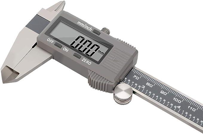 OuYou Calibre digital Calibre Calibrador Electr/ónico de Acero Inoxidable Calibrador Digital Vernier Digital