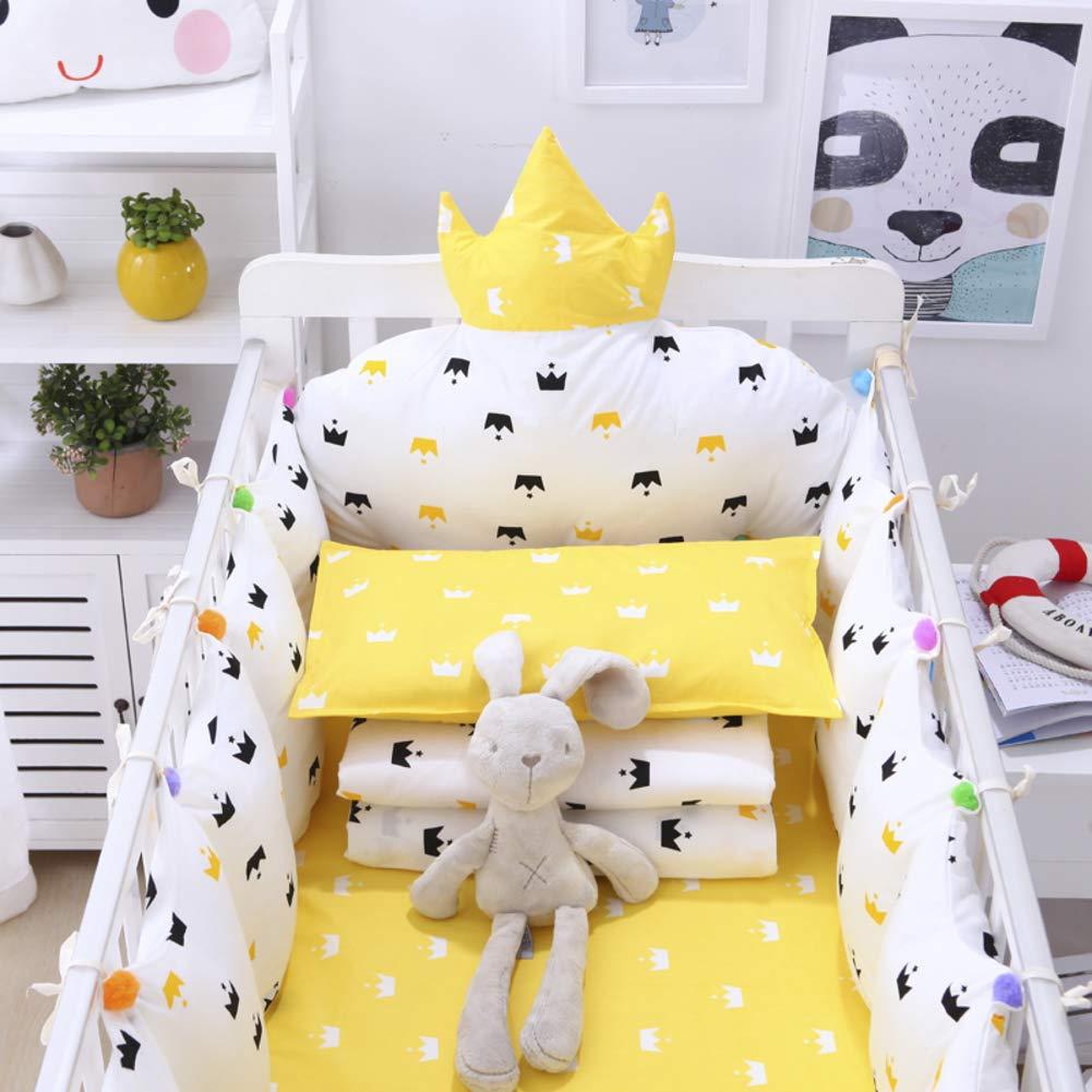 Xxn コットンのリバーシブル ベビー寝具セット,バンパーのすべてのラウンド ユニセックス 無衝突赤ちゃんベビーベッド バンパー パッド入りベビーベッド バンパー2-防止アレルギー 2-E パッケージC   B07KY6FHTW