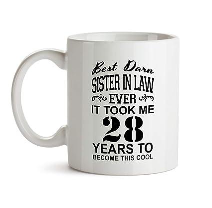 28th Sister In Law Birthday Gift Mug