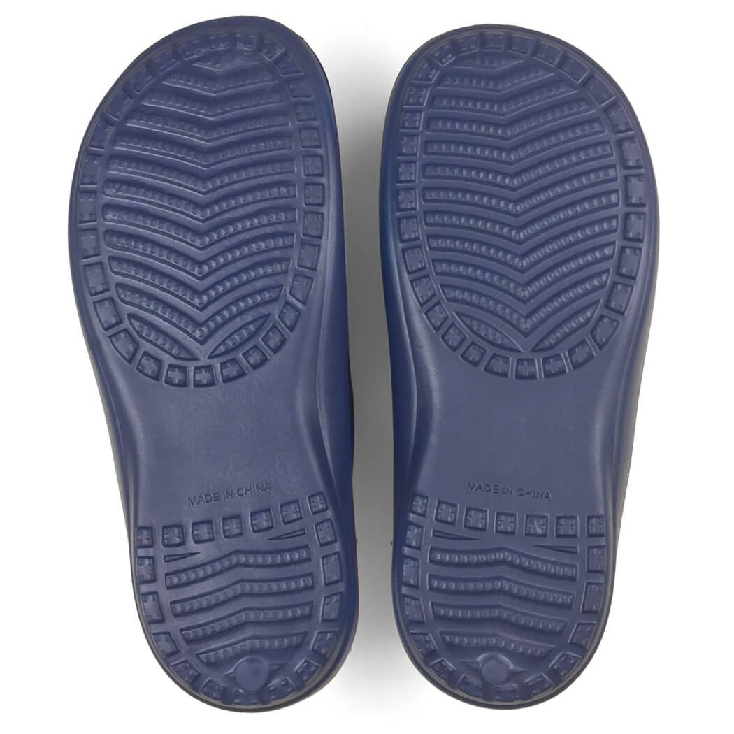 PR SOLES Recovery Sandals | Sports Glides for Men and Women | Great for Athletes | Navy Blue/Pink XXS | (W) 5 - 6.5 by Gone For a Run (Image #5)