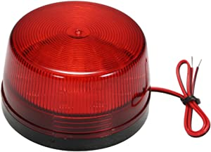 OWSOO LED Warning Light,Flashing Signal Alarm,Wired Alarm Strobe Signal,Wired Strobe Siren,Safety Warning Light,Waterproof,12V 120mA,Safely Security for Alarm System,Red