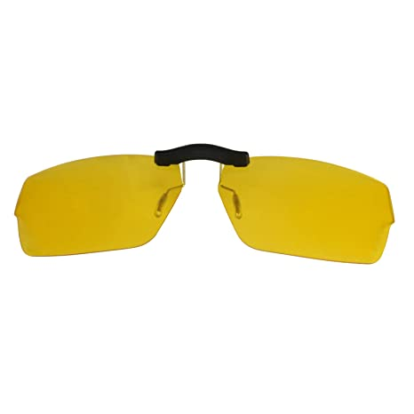6482b8c029cf3 Custom Polarized Clip On Sunglasses for Oakley Muffler 53x18 (No Frame)  night vision Yellow - - Amazon.com