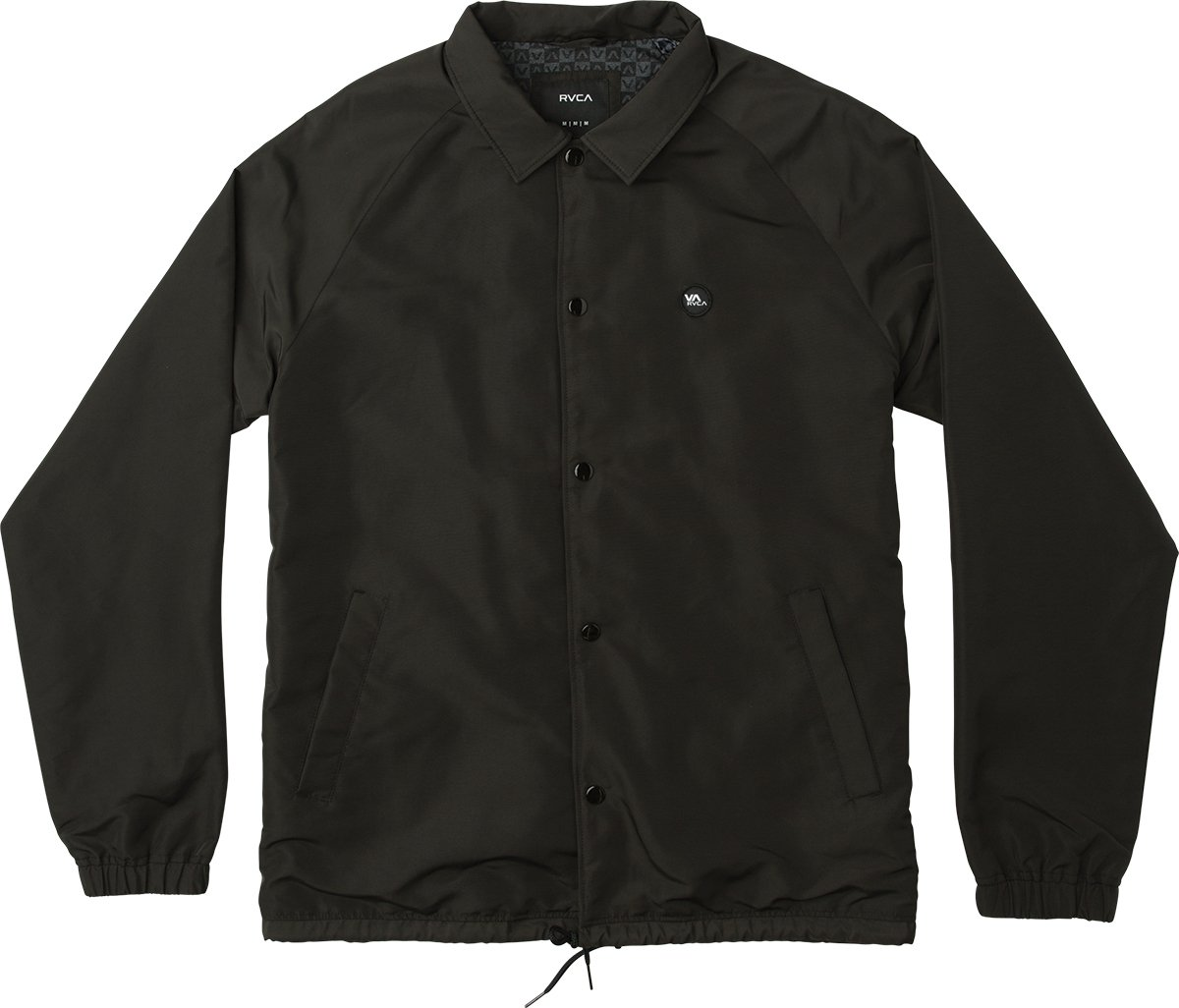 RVCA Men's ATW II Coaches Jacket, Black, M