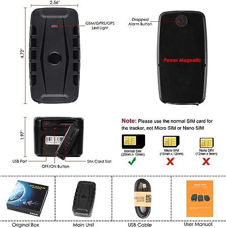 v/éhicule Tracker GPS de voiture Relais de suivi de voiture Tracker GPS Localisateur de p/ériph/érique GSM T/él/écommande Tracker GPS /étanche pour voiture camion taxi Tracker GPS pour v/éhicules