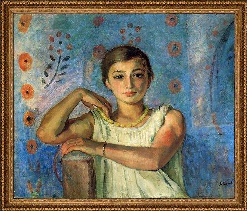 Art Oyster Henri Lebasque NONO in a Yellow Necklace - 20.05
