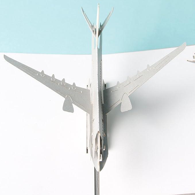 biglietti di auguri per gli amanti popup-cards F16/aereo V2/3D Pop Up Cards vintage aereo Air regali creativi cartolina compleanno San Valentino