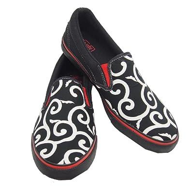 竜図 スリッポン 和柄 スニーカー/靴/メンズ/1605PFZ03SP,,唐草ブラック