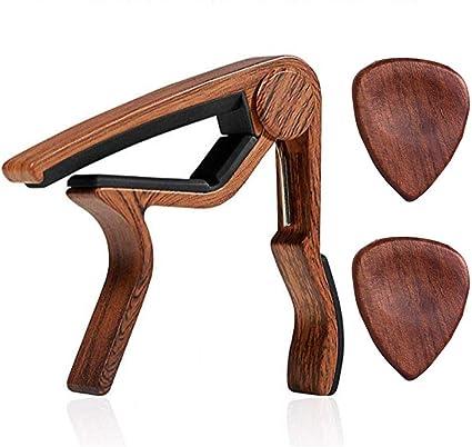 Juego de púas de madera para guitarra acústica, madera oscura ...