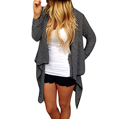 cbe2d8b5844d Woaills-Tops 2018 New!!Women Irregular Long Sleeve Coat Sweater,Ladies  Autumn