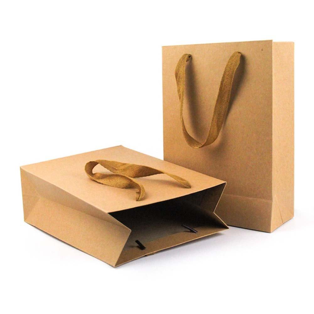ViewHuge - Bolsa de Papel Kraft marrón con Asas, Bolsas de ...