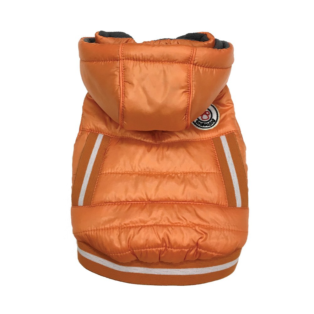 FouFou Dog 63020 Arctic Tek Parka Pet Dress for Dogs, Small, orange