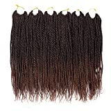 VRUnique (12 Inch (6 Count), 1B-30#) Senegalese Twist Crochet Hair Braids Small Havana Mambo Twist Crochet Braiding Hair Senegalese Twists Hairstyles For Black Women 30 Strands/Pack