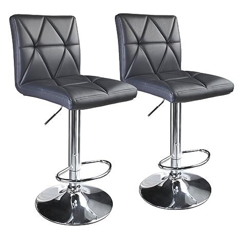 Excellent Leader Accessories Modern Swivel Grey Bar Stool Diagonal Line Hydraulic Adjustable Bar Stools Set Of 2 Theyellowbook Wood Chair Design Ideas Theyellowbookinfo
