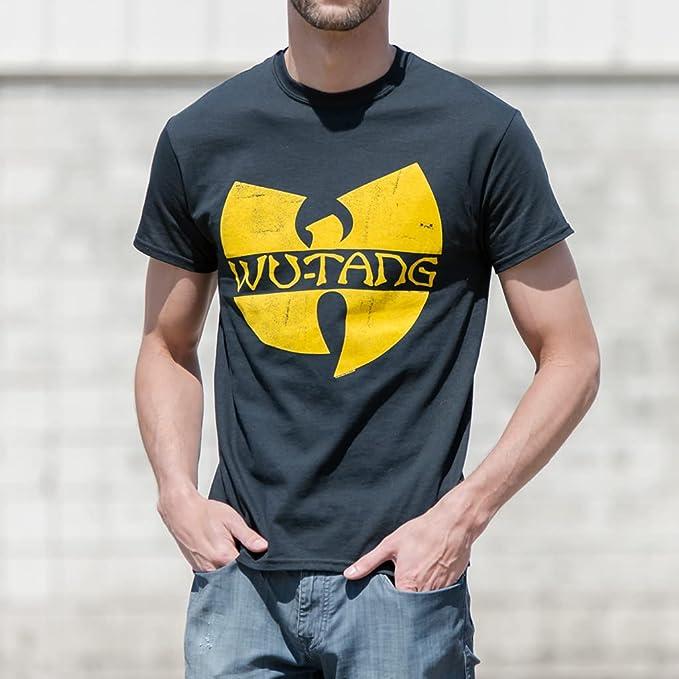 Wu-Tang Clan Classic Distressed Yellow Logo Men/'s Cotton T-Shirt S,M,L,2XL