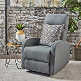 Giovanni Class Gliding Fabric Recliner (Charcoal)