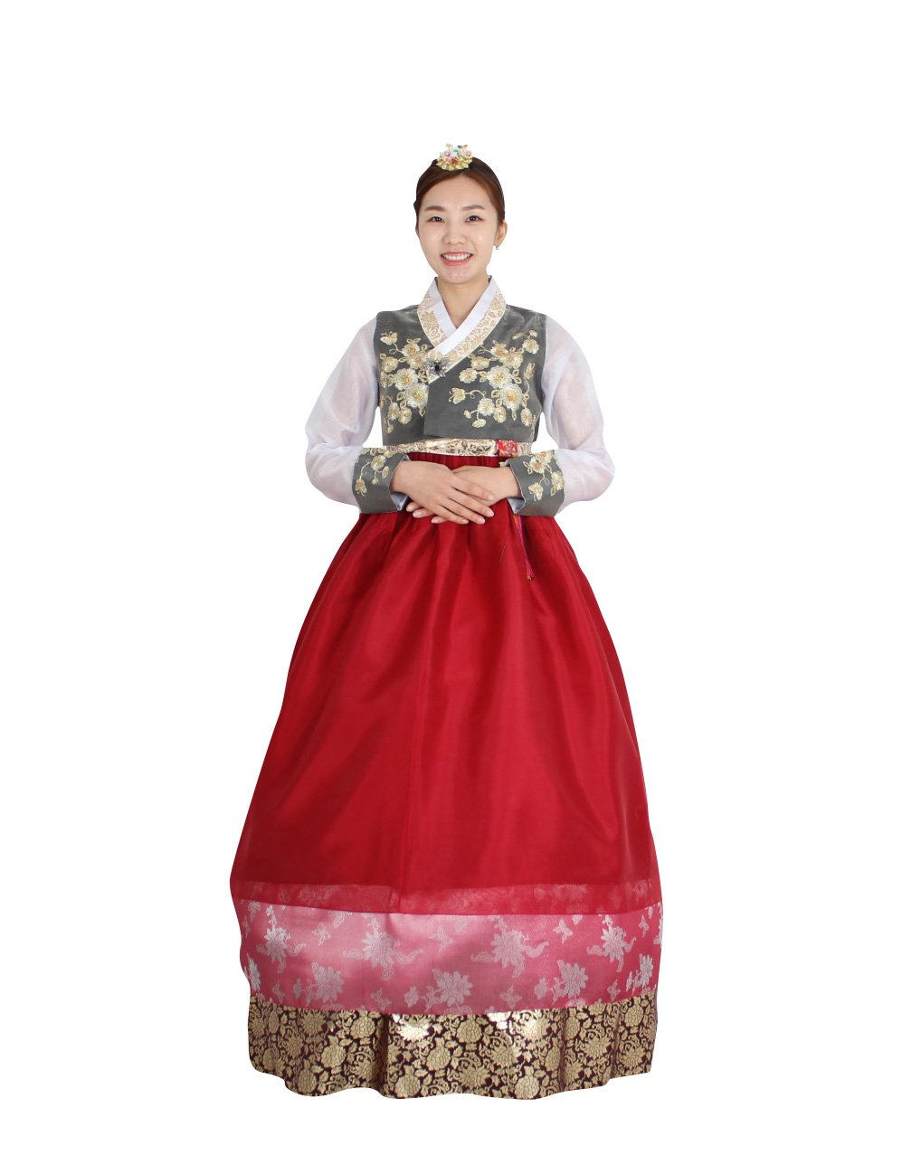 Hanbok Korea Traditional Costumes Women Junior Weddings Birthday Speical Ceremony co108 (55 (S) womens top)