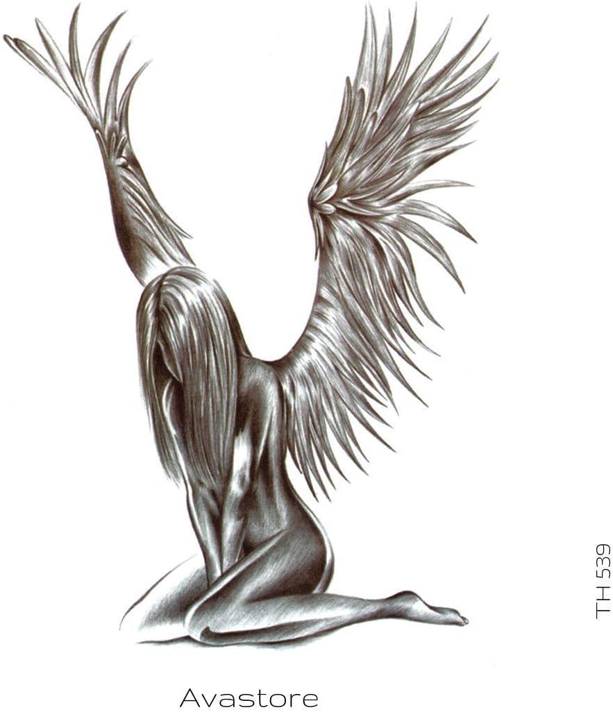 Avastore - Tatuaje temporario con diseño de ángeles: Amazon.es ...