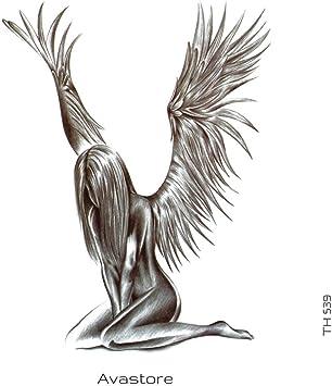 Tatouage Temporaire Femme Homme Angelus L Ange De Purete Dessin Realiste Noir Tatouage Ephemere Femme Homme Angelus L Ange De Purete Dessin Realiste Noir Grand Modele Avastore Amazon Fr Beaute Et Parfum