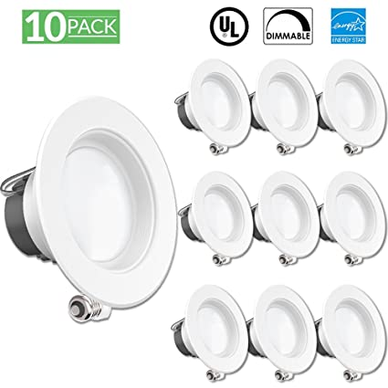 sunco lighting 10 pack 11w 4inch energy star ul listed dimmable led