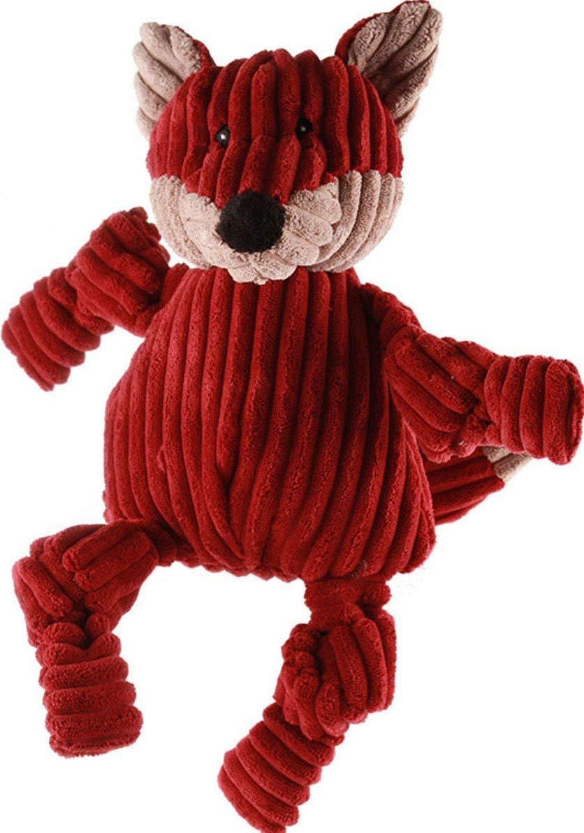 HuggleHounds Plush Corduroy Durable Knotties Dog Toy