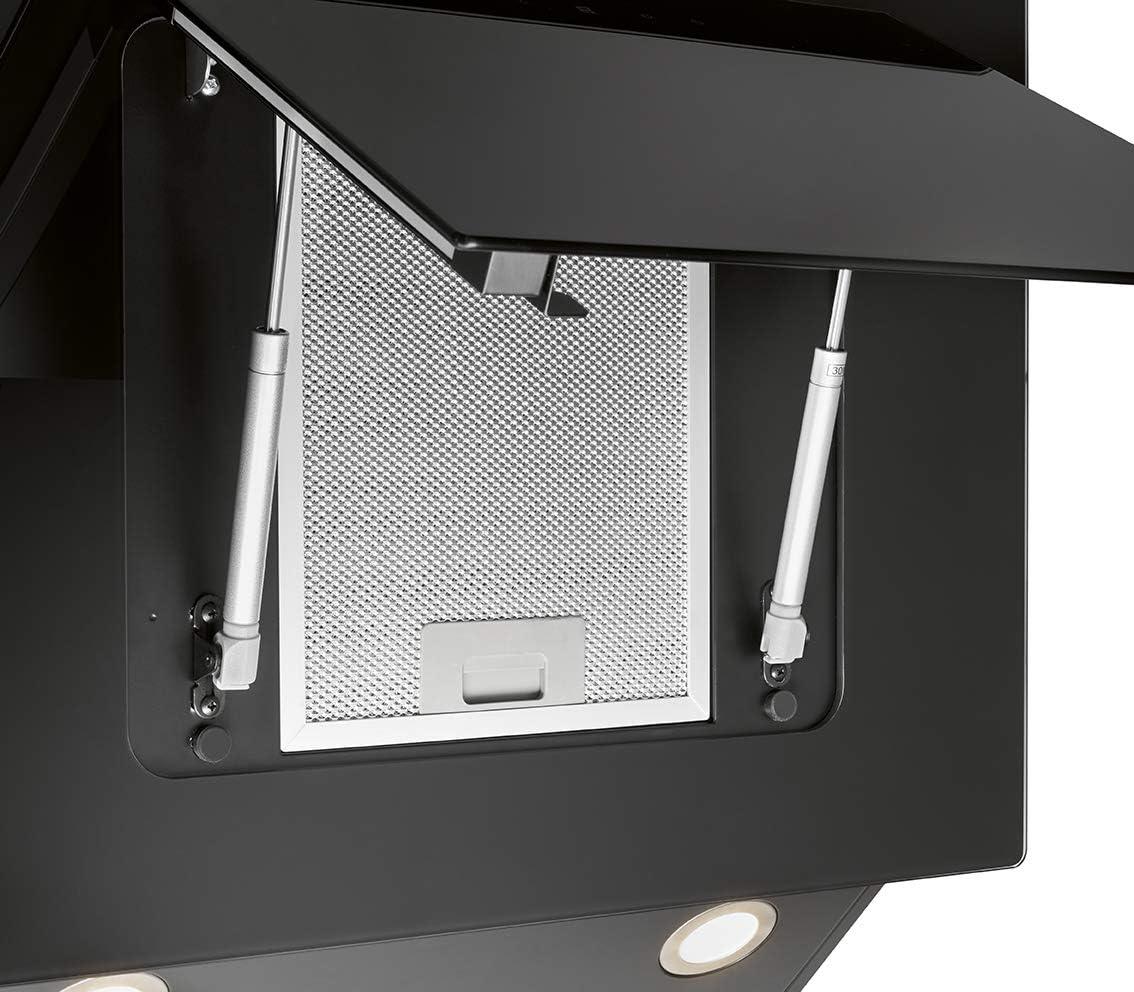 Bomann DU 7603 G - Campana vertical sin cabezal, 60 cm, iluminación LED, control táctil, funcionamiento de recirculación de aire o canalizado 607 m3/H/negro: Amazon.es: Grandes electrodomésticos