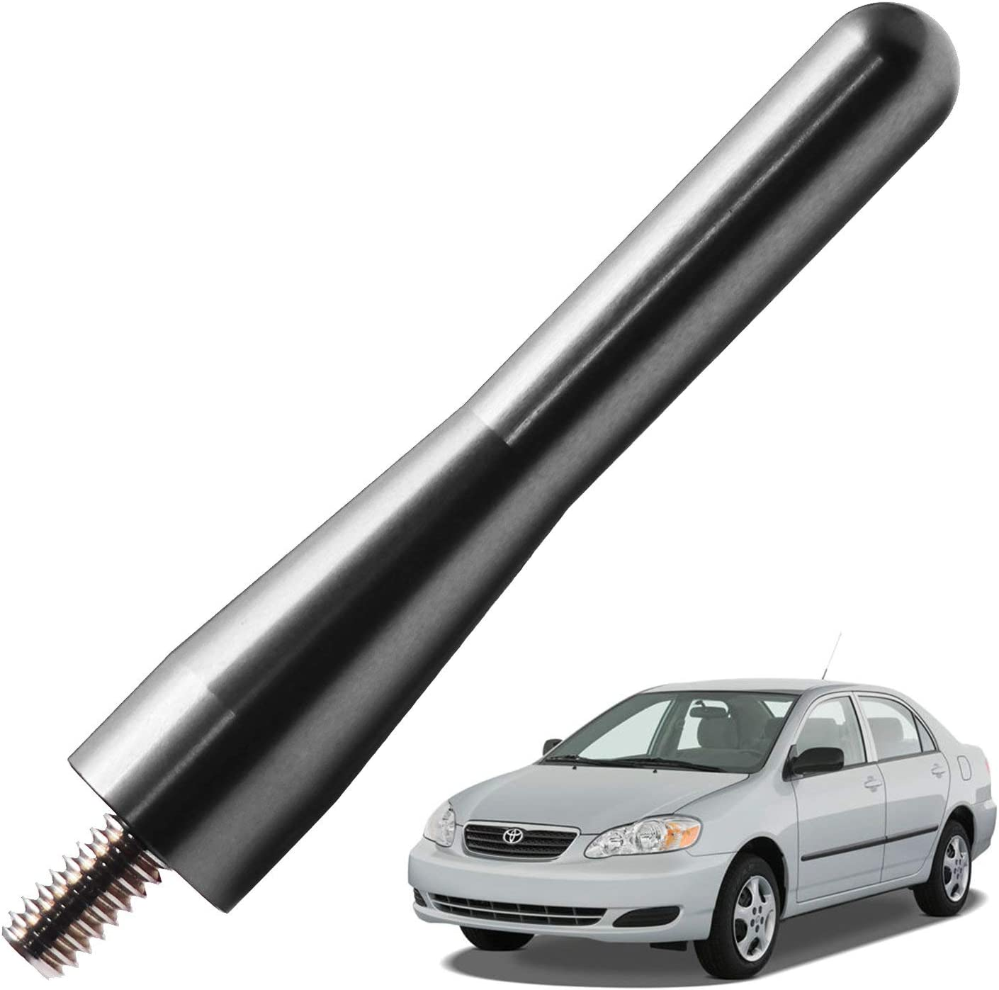 JAPower Replacement Antenna Compatible with Toyota Corolla 2003-2008 3 inches-Titanium