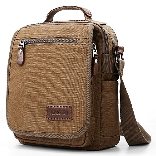 - XINCADA Mens Bag Messenger Bag Canvas Shoulder Bags Travel Bag Man Purse Crossbody Bags for Work Business