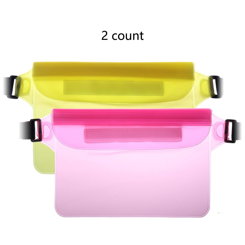 水泳バッグドリフト防水バッグ、防水バッグ、アウトドア水バッグ、サーフィン、ボート、防水ウエストバッグ B07CVY134W Powder and yellow Powder and yellow