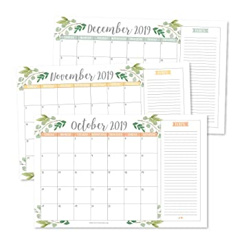 Amazon.com: Greenery 2019-2020 - Agenda mensual o de pared ...