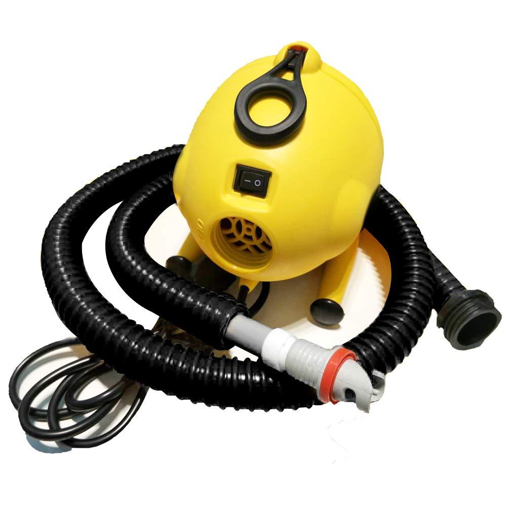 Airmat工場用ポータブル電動エアポンプInflatables – エアマットレス用ポンプ120 V電動ポンプインフレータブルエアトラック/スタンドUpパドルボードand Kayak Inflator forボートとテント B07FCHNSVH Yellow Electric Air Pump