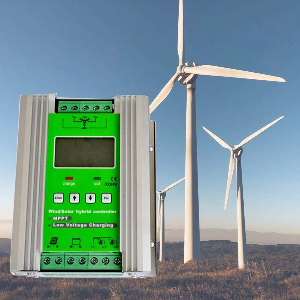 Eruditter 1200W MPPT Wind Solar Hybrid Ré gulateur de Charge Solaire 24 V 40 A pour Ventilateur 800 W avec Booster et Free Dump Load