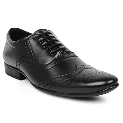 0a832606c4a BUWCH Mens Formal Black Shoes-6Uk  Buy Online at Low Prices in India -  Amazon.in