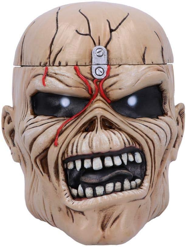 Nemesis Now Iron Maiden Eddie The Trooper Head Trinket Box, Polyresin, Beige, One Size