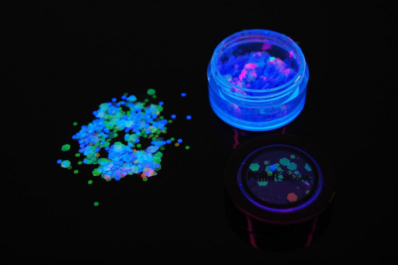 Amazon.com   PaintGlow UV Blacklight Reactive Holographic Chunky Glitter  Shaker with FREE UV Light (Mermaid Mist)   Beauty 58cef36b8d