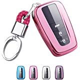 Mofei for Toyota Key Fob Cover - Soft TPU Key Fob Case Protective Sleeve Protector Protecting Shell Keyless Remote…