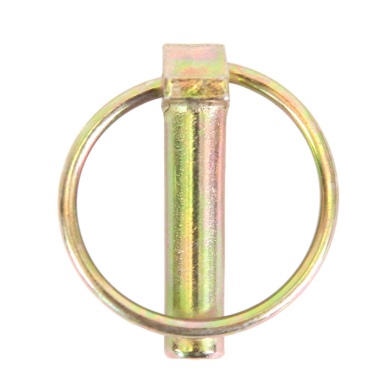 Koch Industries 4020733 Long Lynch Pin 7 16 x 1 3 4 Inch Yellow Zinc Plated