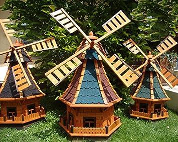wmb100os moulin vent 1 m grand avecsans clairage solaire bitume en bois