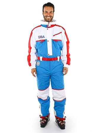 Amazon.com: Patriótico EE. UU. Traje de esquí, color rojo ...