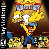 The Simpsons Wrestling PS1 Instruction Booklet (Sony Playstation Manual ONLY - NO GAME) Pamphlet - NO GAME INCLUDED
