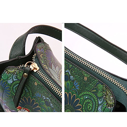 Tisdaini Women's Fashion Small Retro Bag Squares Shoulder Crossbody Handbags Bag Ladies' Green zr7qfz