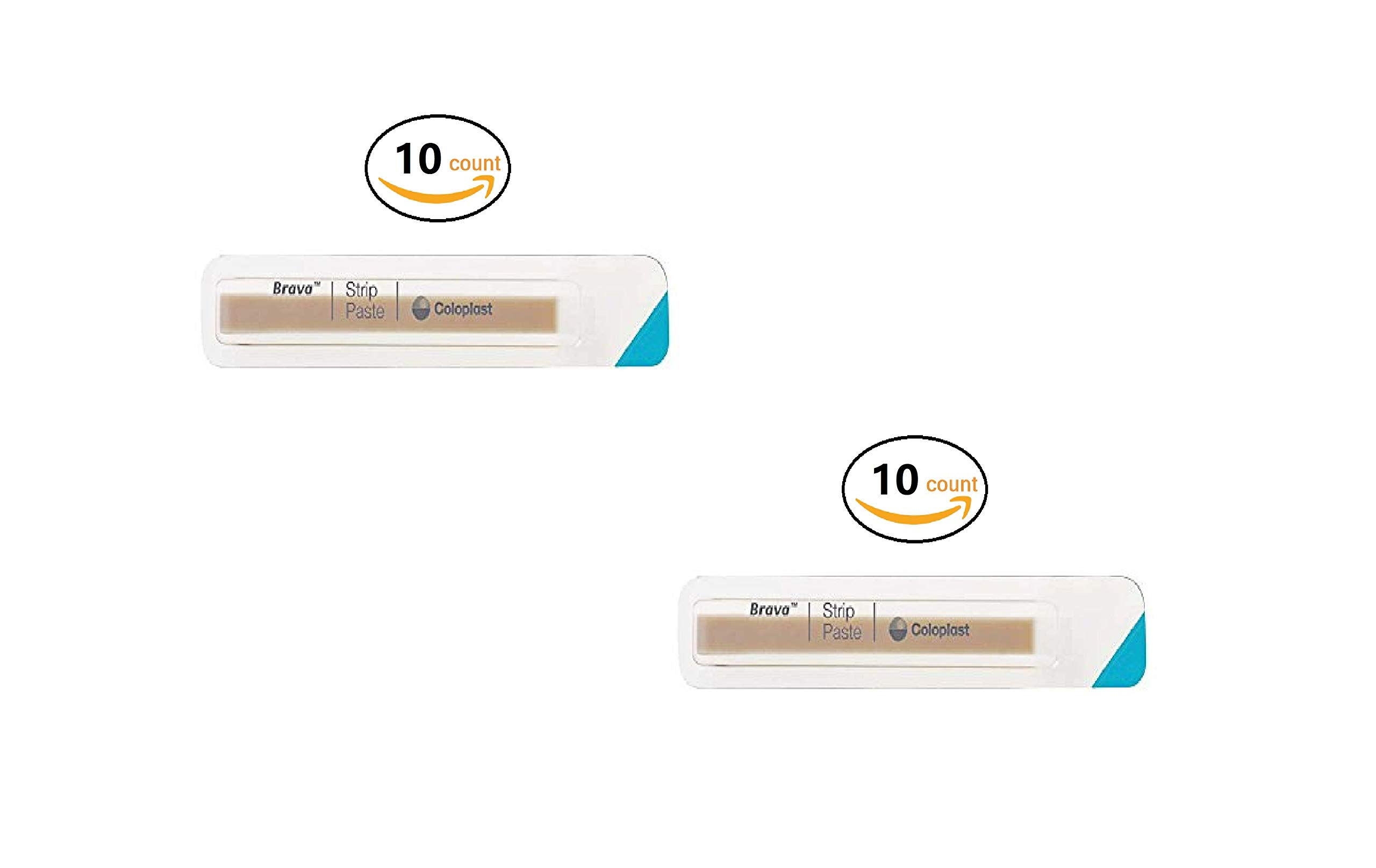 Brava Ostomy Strip Paste, Sting-Free, 0.2 Oz Per Strip (2 Oz Total Per Pack) 26555 2 Pack (10 Count)