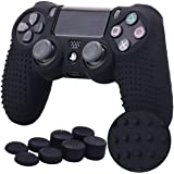 TERSELY Skin Grip Anti-Slip Silicone Cover Case for Sony PS4/PS4 Slim/PS4 Pro DualShock4 Controller Play Station 4…