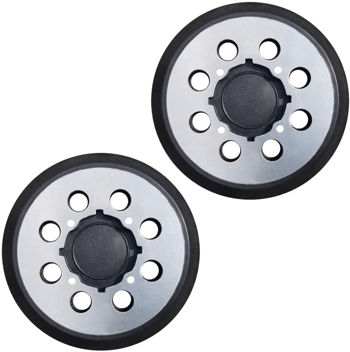 Tockrop 2 Pack 5 inch 8 Hole Hook and Loop Replacement Sander Pad for DeWalt DWE6423,6423K, DWE6421, 6421K, DCW210B Random Orbital Sander